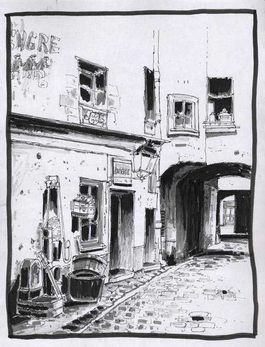 croquis d'une ruelle ©Jicé / Parno