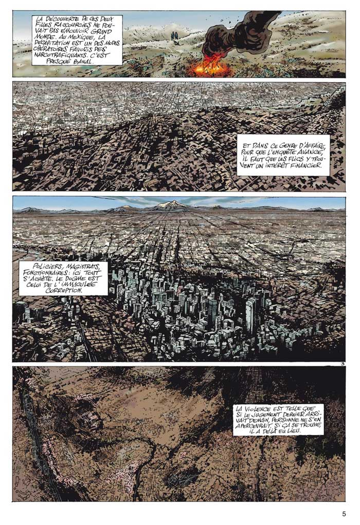 Agence Interpol, planche du tome 1