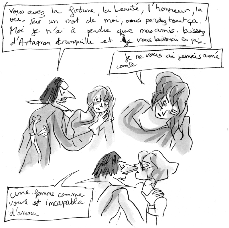 Athos et Milady © Ankama / Agnès Maupré