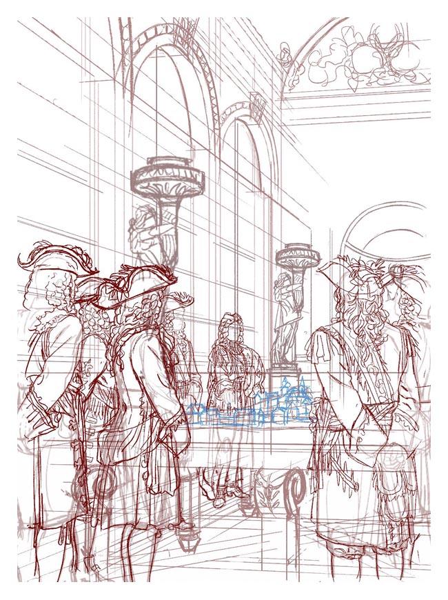 crayonné du tome 2 d'Ars Magna © Milan Jovanovic
