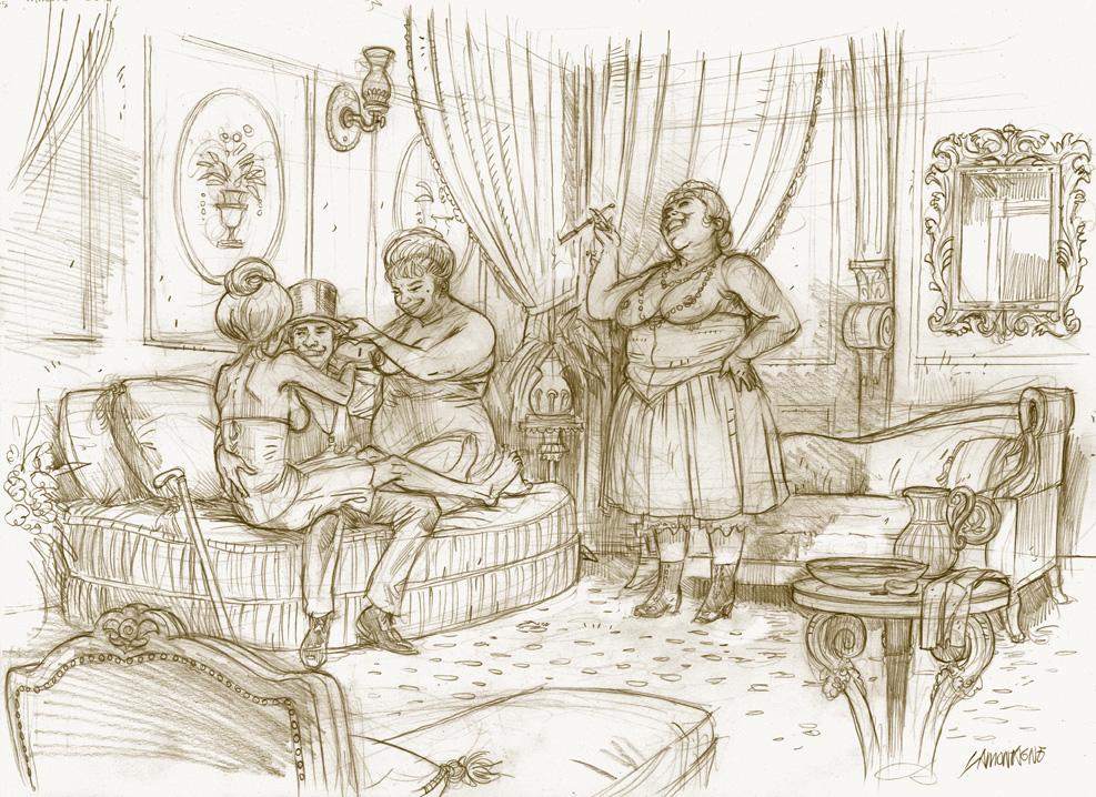 Aspic, crayonné tome 1