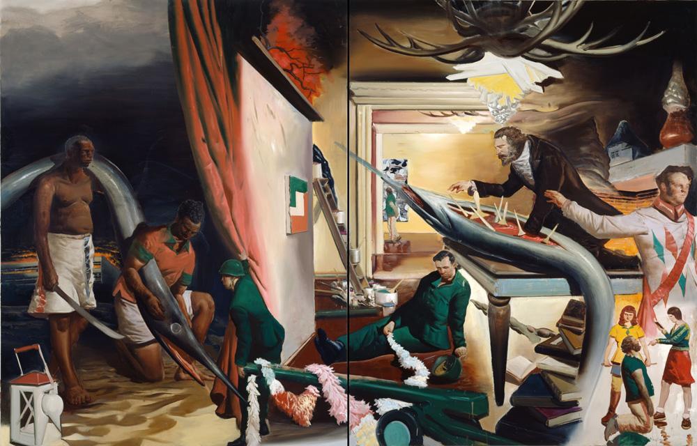 oeuvre du peintre allemand Neo Rauch