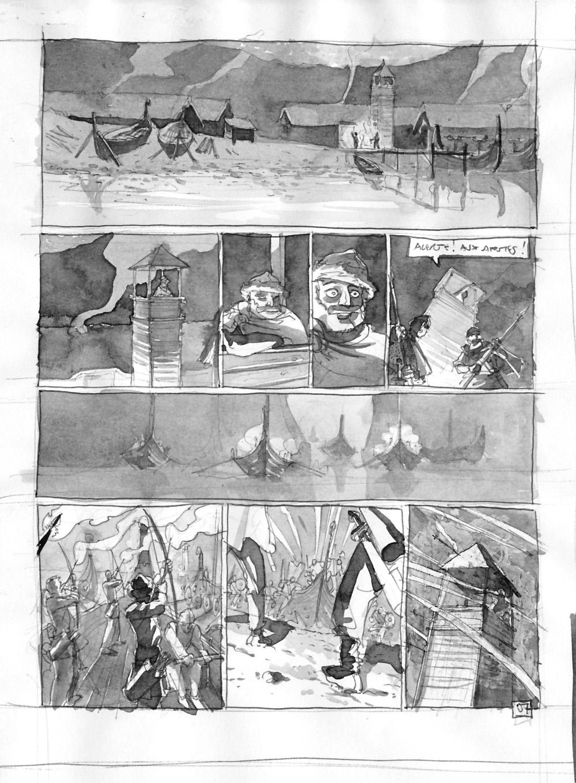 Storyboard de la planche 7 du tome 1©Benoît Blary