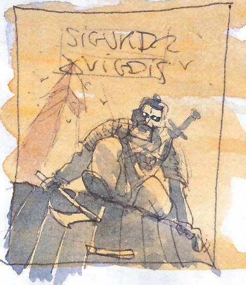 Sigurd & Vigdis, recherche de couverture © Benoît Blary