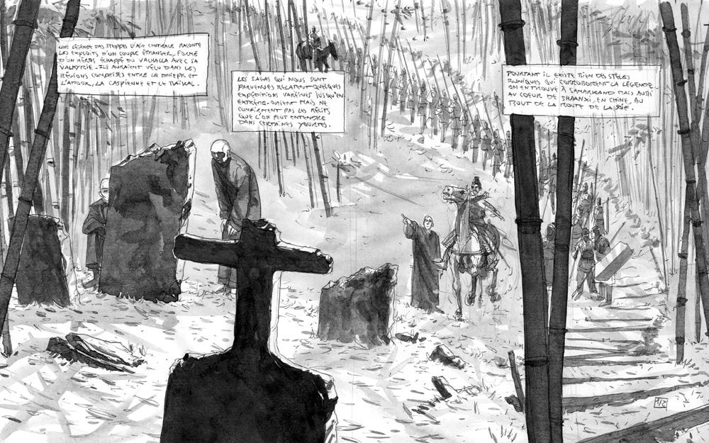 Sigurd & Vigdis, storyboard des planches 1 & 2 © Benoît Blary
