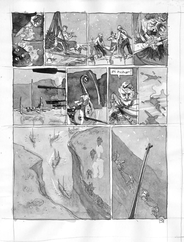 Sigurd & Vigdis, storyboard de la planche 6 © Benoît Blary