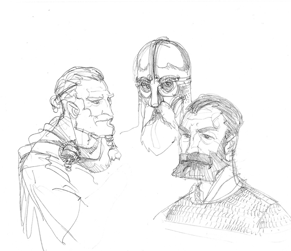 Sigurd & Vigdis, vikings © Benoît Blary