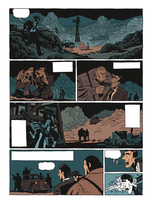 Tyler Cross, colorisation de la planche 6 du tome 1