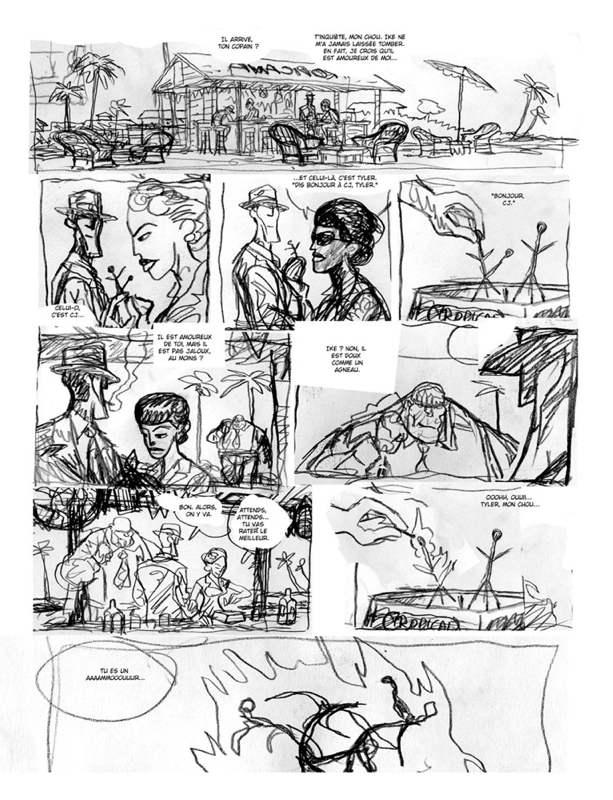 Tyler Cross, rough de la planche 4 du tome 1