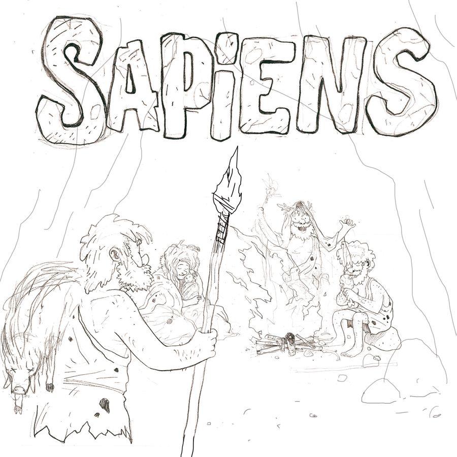 Sapiens, recherche pour l&#39illustration de couverture © Catch Up Games