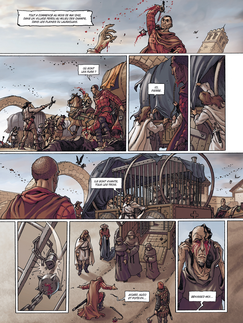 Cathares, planche tome 1