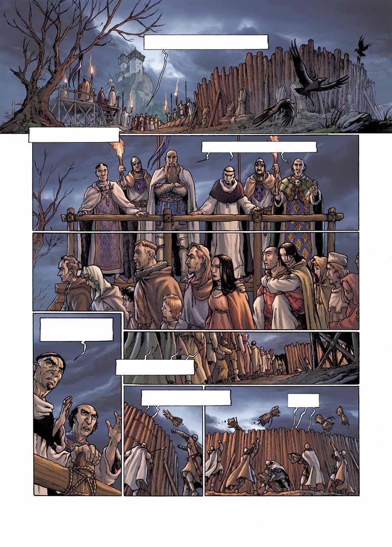 Colorisation de la planche 44 de Cathares © Glénat /    Fabio