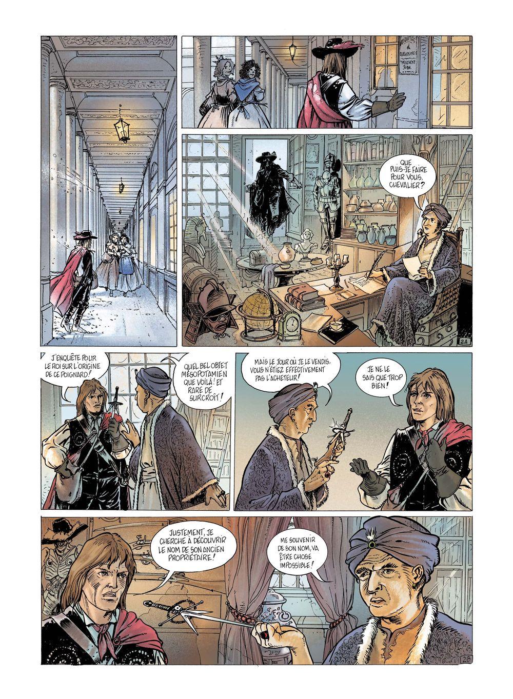 Le Chavalier Mécanique, planche du tome 2
