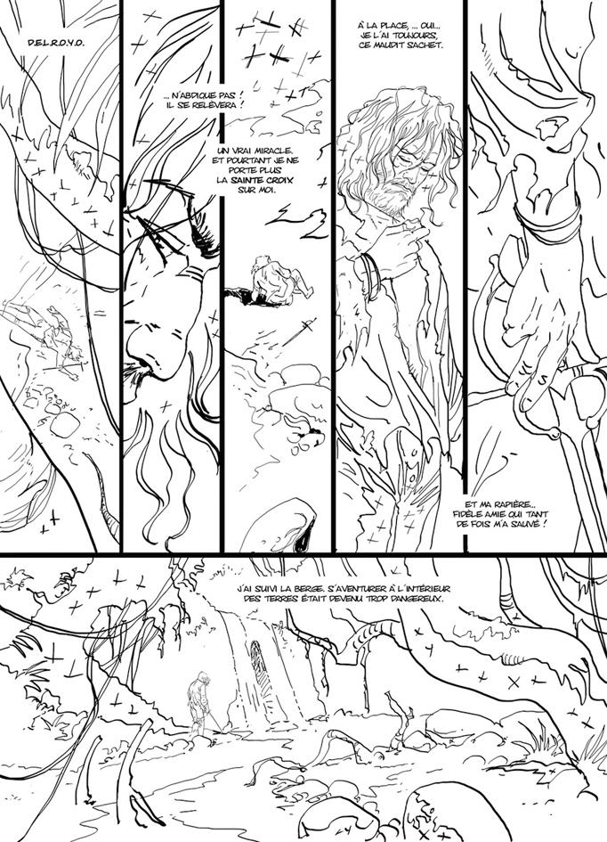Etape 2 :le crayonné © Glénat / Philippe Xavier / Jean Dufaux