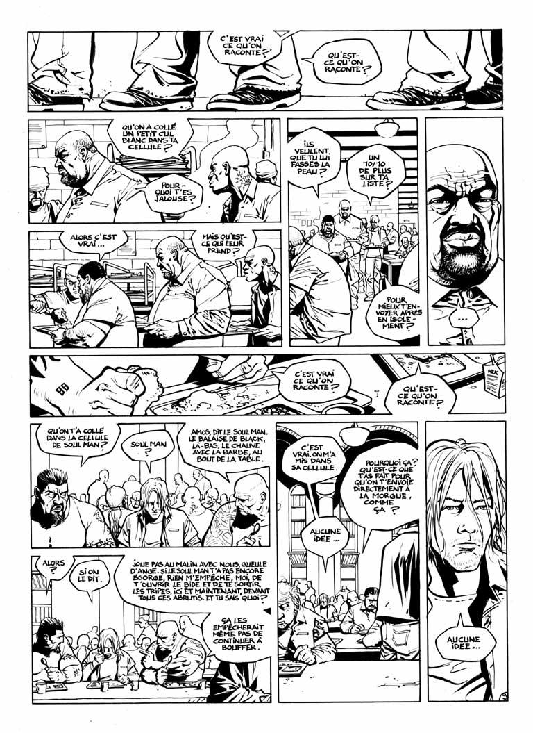 Encrage page 9 de Soul Man ©Delcourt /  <br /> David Chauvel / Denys