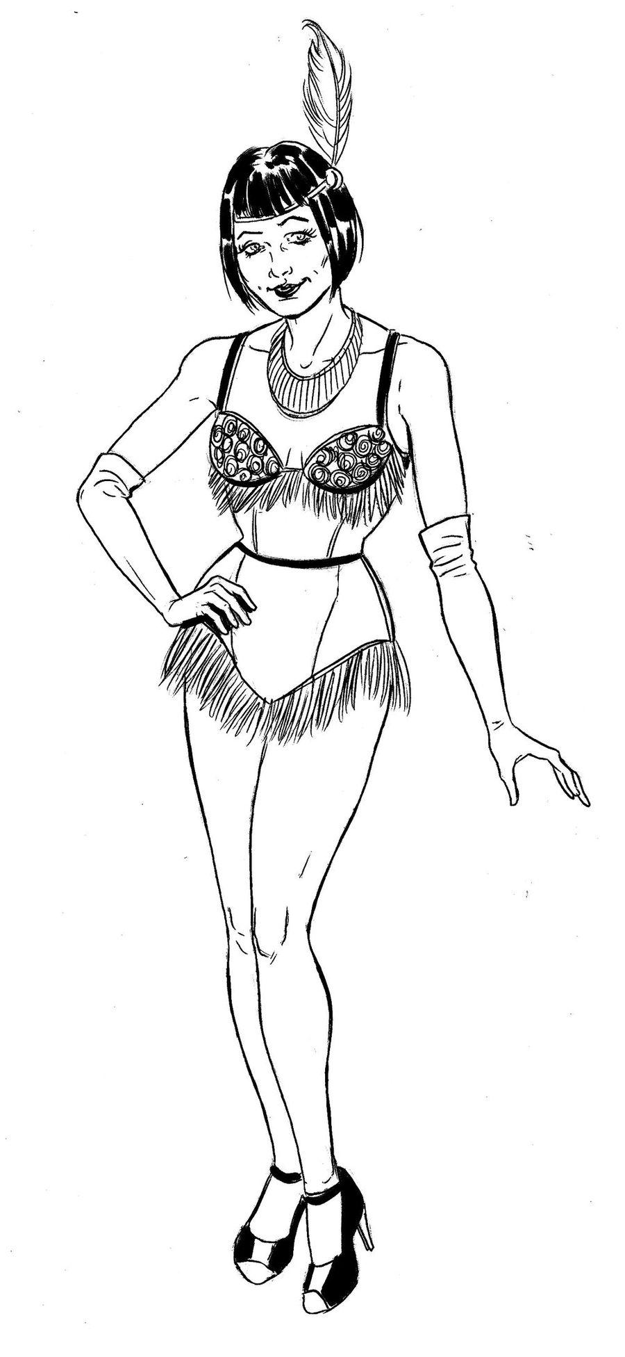Envols, femme en tenue de charleston