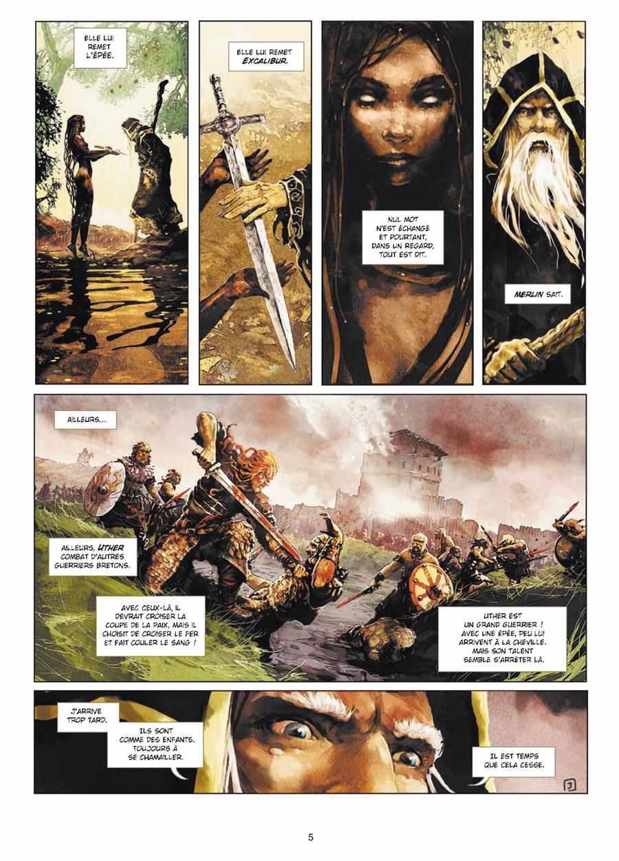Excalibur Chroniques, planche du tome 1