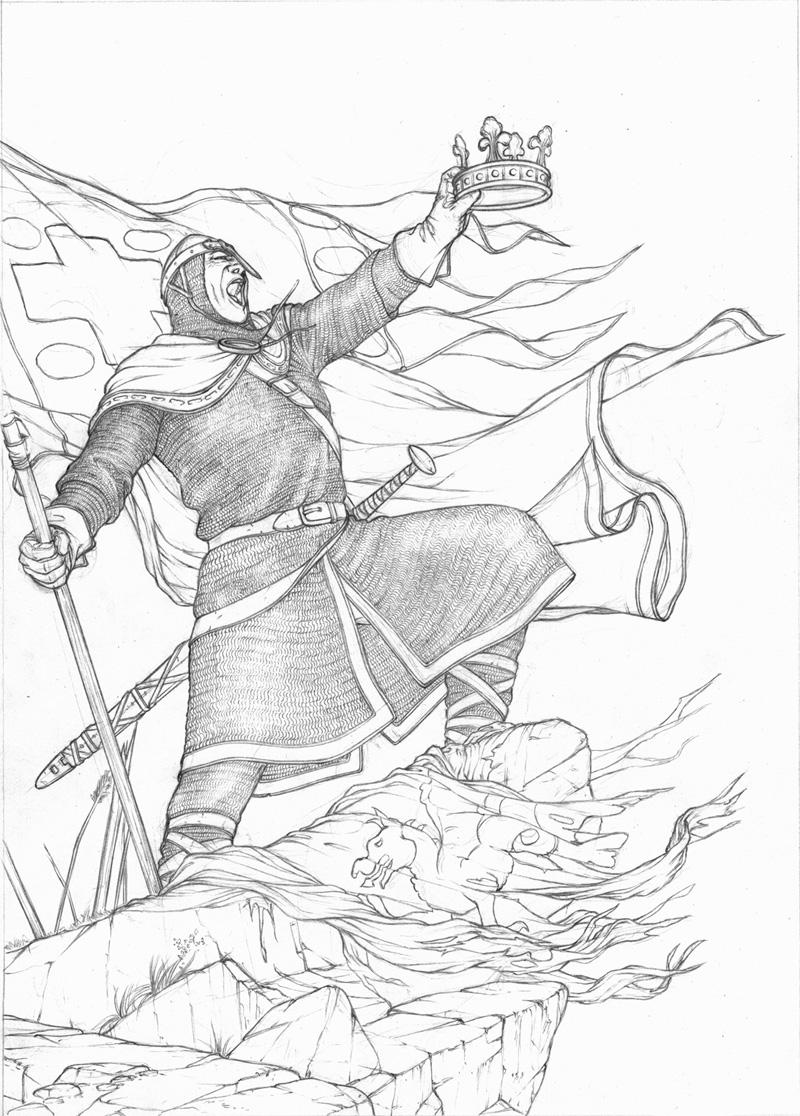 crayonné du médaillon de la page titre du tome 1 ©Jaime Calderón