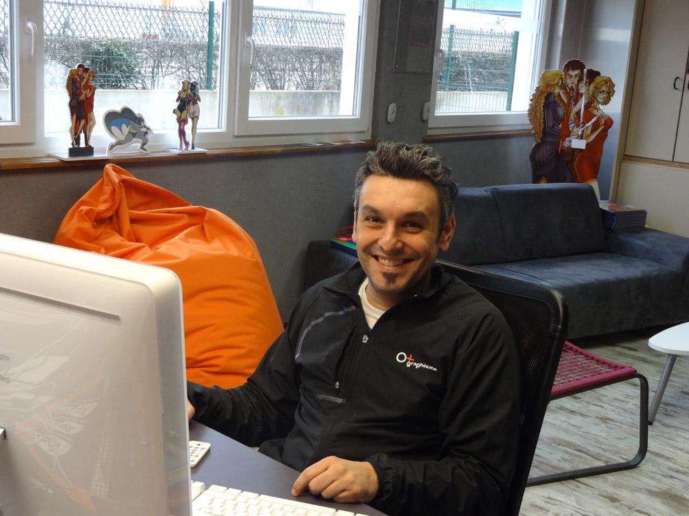 Fabrice Linck en pleine séance de travail