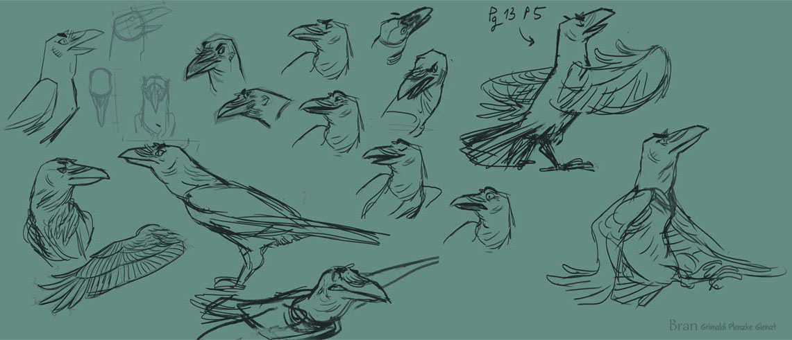 Recherche sur Bran dans sa forme de Corbeau © Plenzke / Grimaldi
