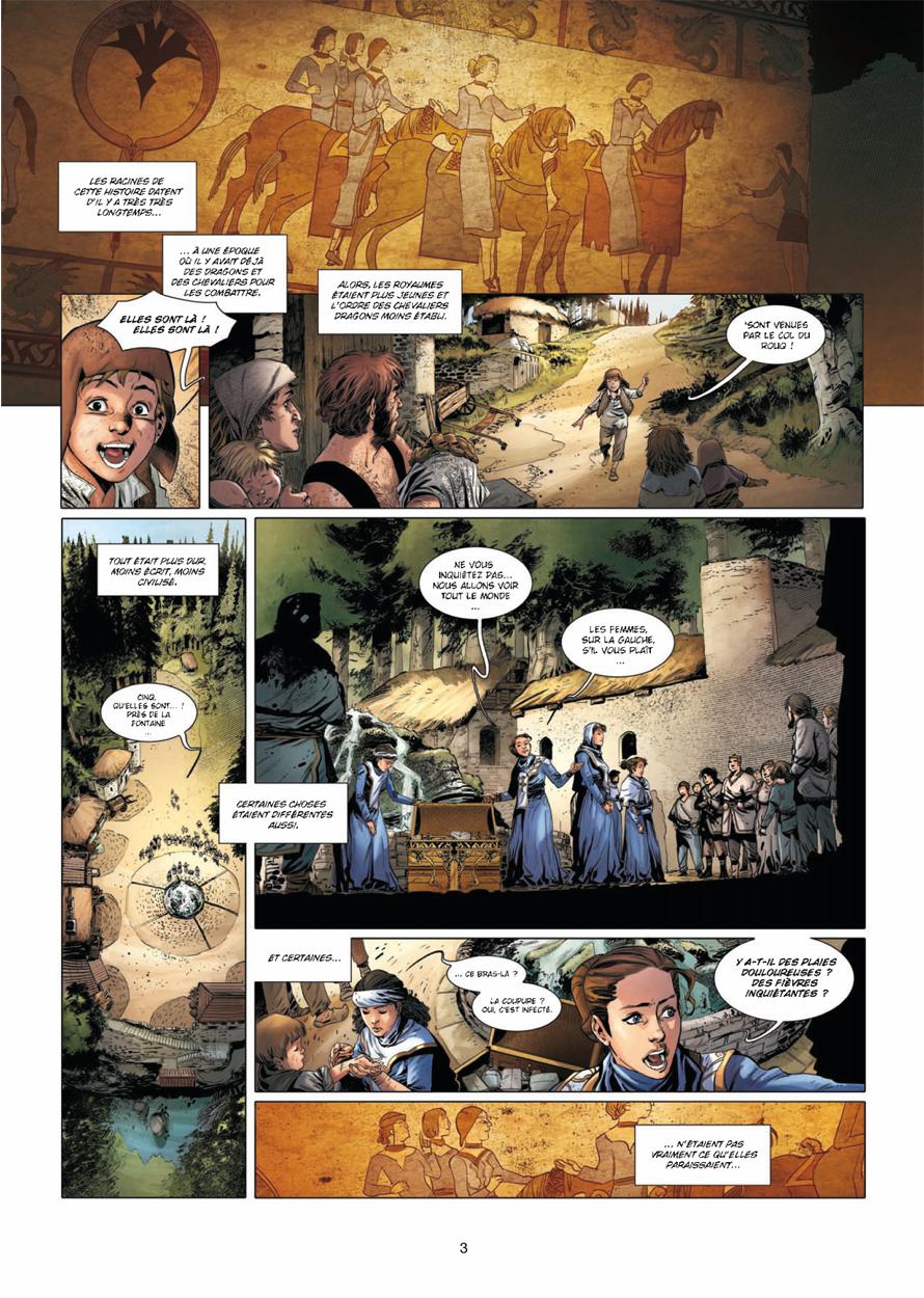 La Geste des Chevaliers Dragons, planche du tome 16