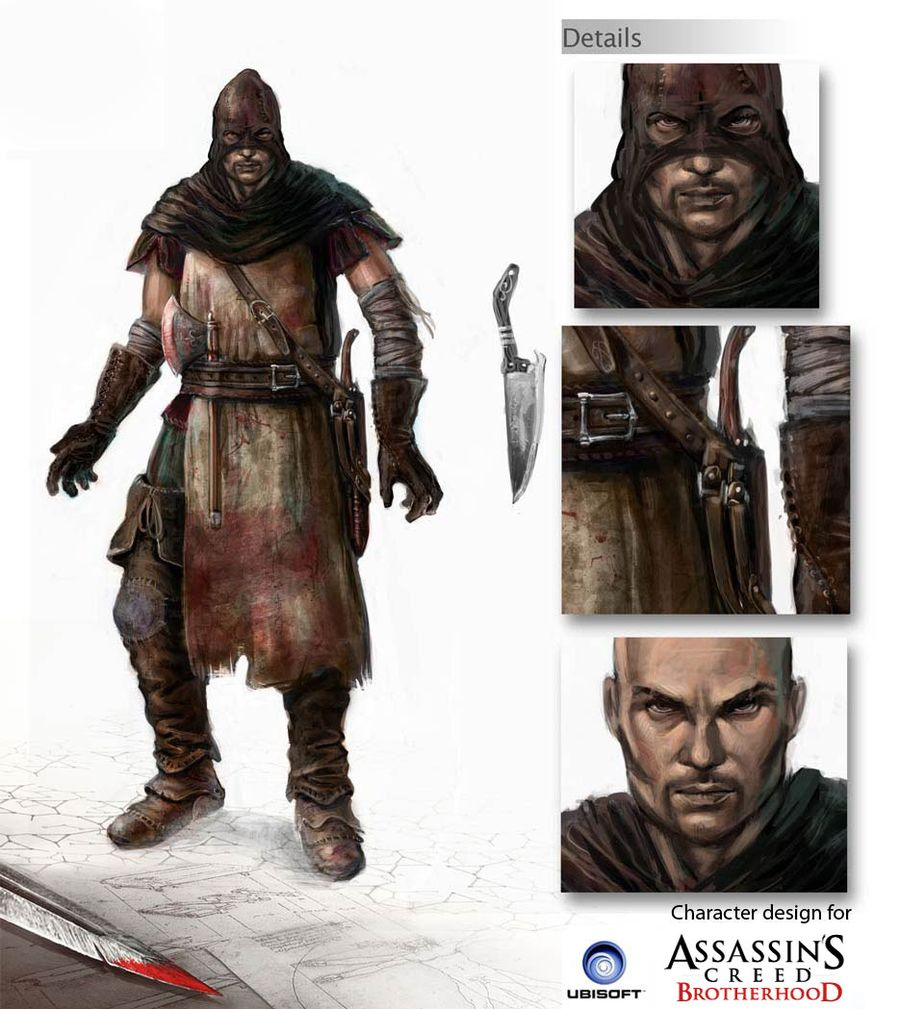 concept art pour Assassin's Creed Brotherhood  © Jérémie Fleury