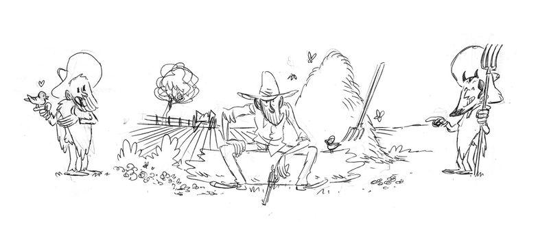 Lincoln, crayonné de l&#39illustration,de la boite du jeu