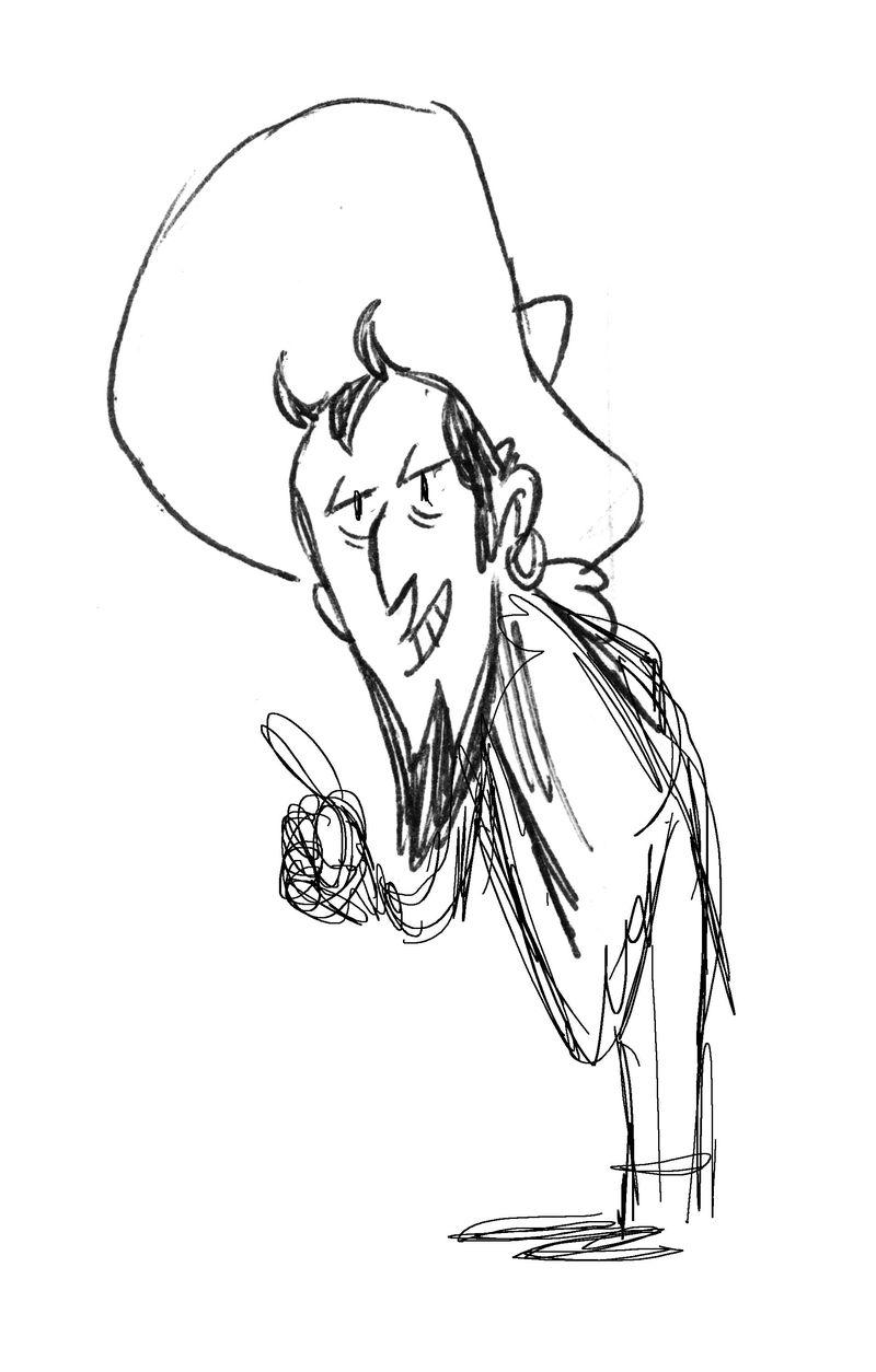 Lincoln, crayonné du diable dans la remise