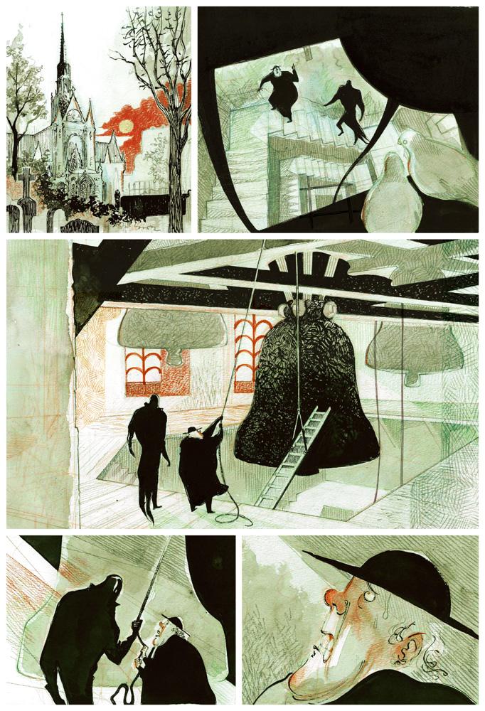 La Colère de Fantômas, crayonné de la planche 19
