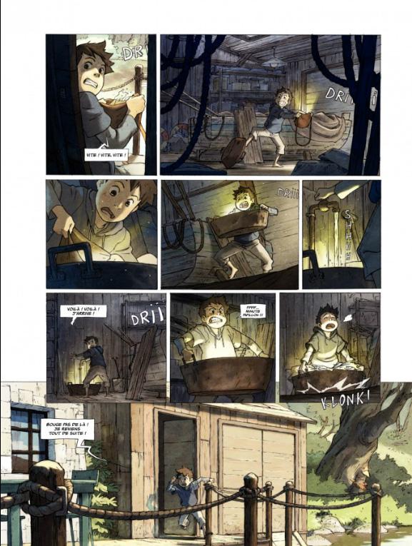 Le Monde de Milo, planche du tome 1