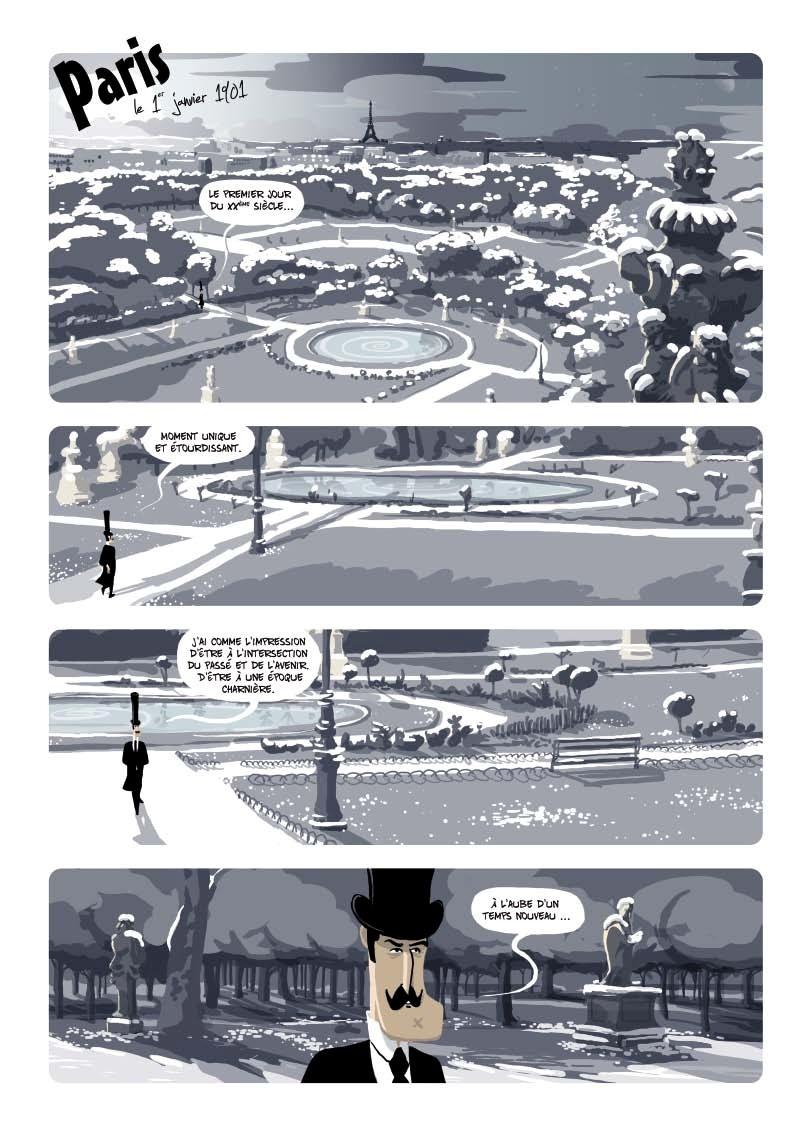 Les Promeneurs du Temps, planche du tome 1