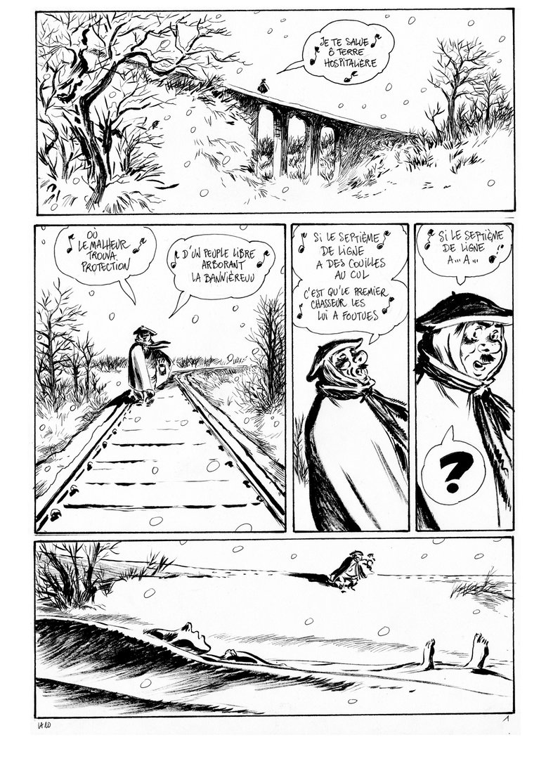 Planche 1, seconde version �Li-an / Vents d'Ouest