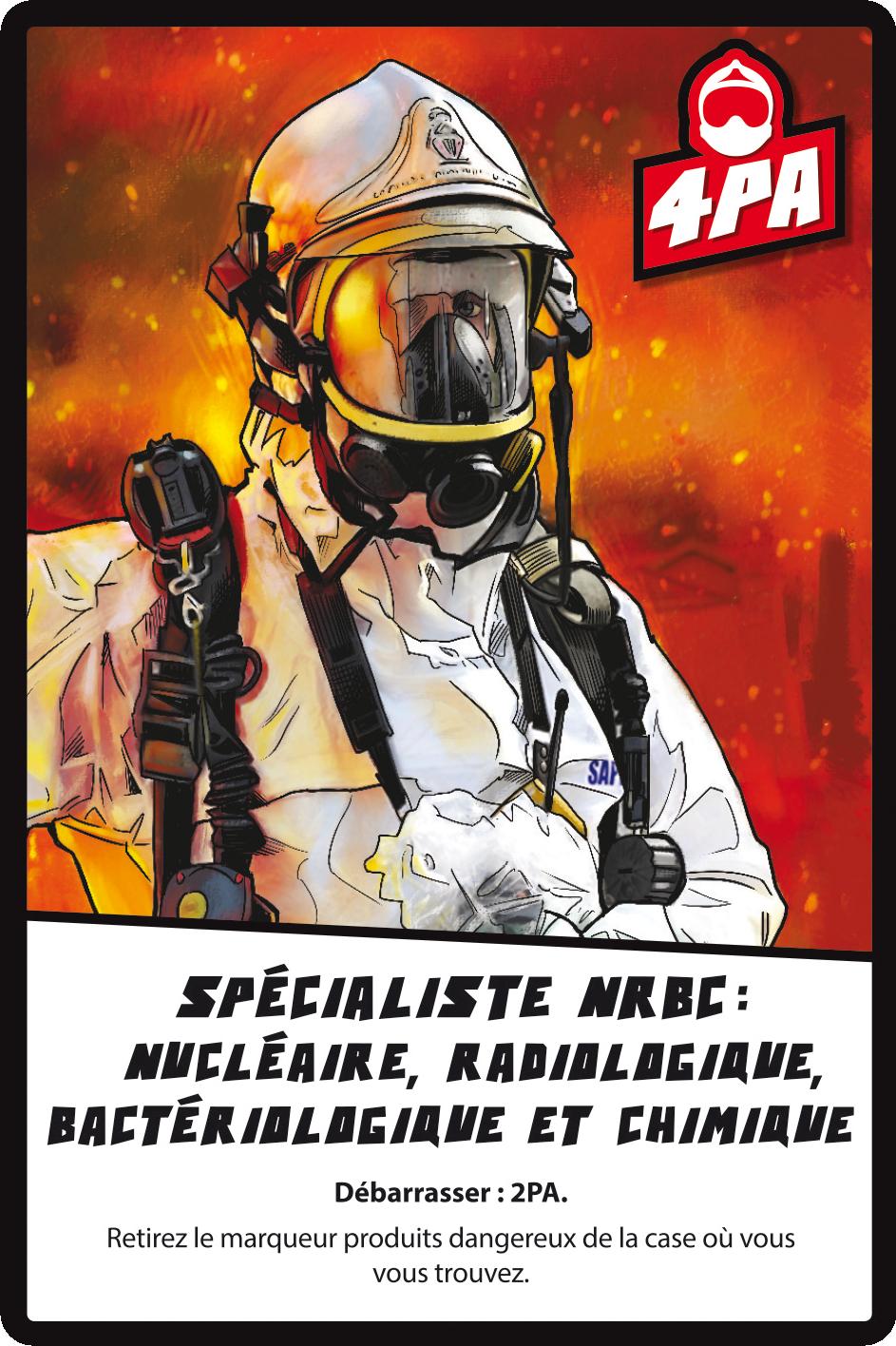 18 - Soldats du Feu, carte rôle du spécialiste NRBC