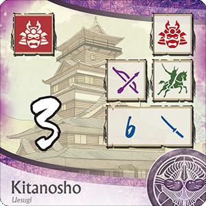 Age of War, un château de Kitanosho du clan Uesugi