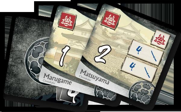 Age of War, cartes châteaux