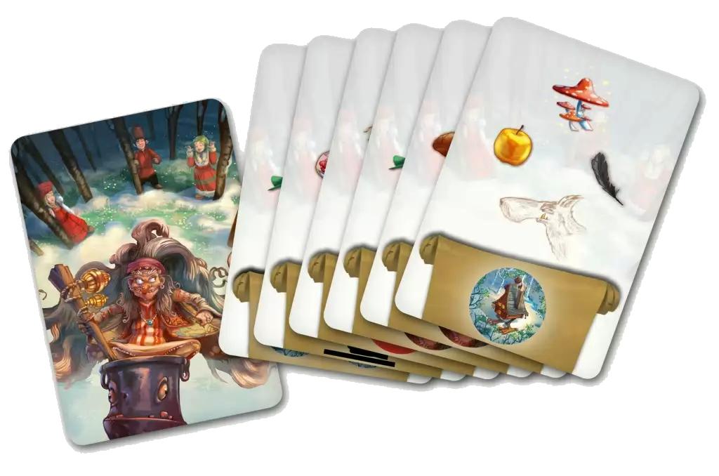Baba Yaga, les cartes Sorts