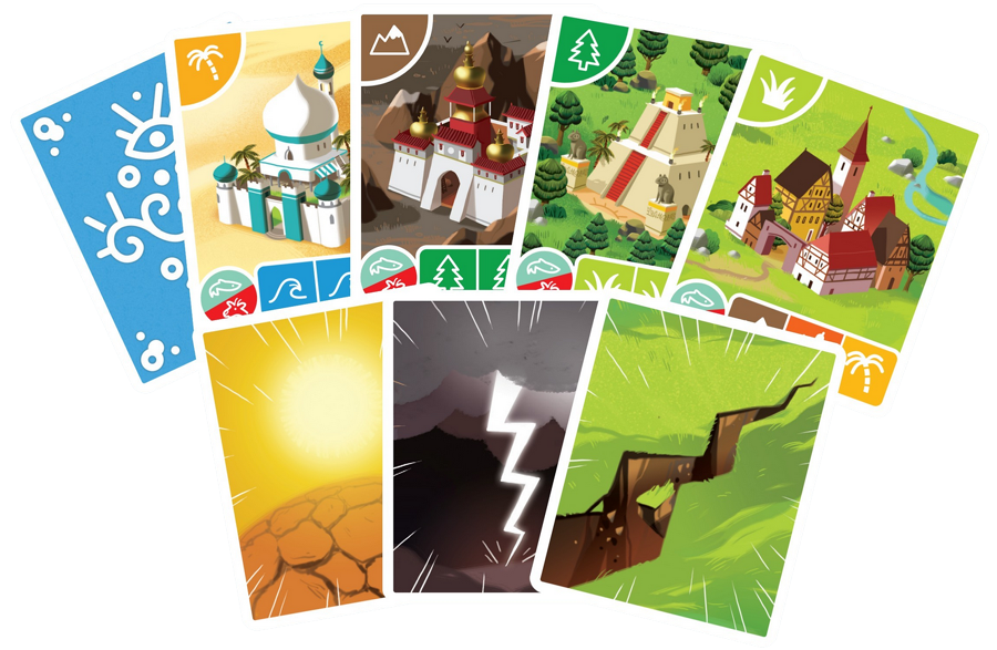 Gaïa, cartes du jeu Ⓒ Blackrock Editions / Castanié / Rolko
