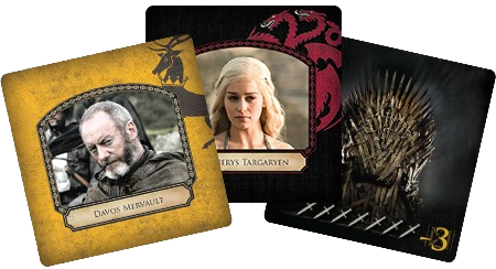 Game of Thrones - Intrigues à Westeros, quelques cartes