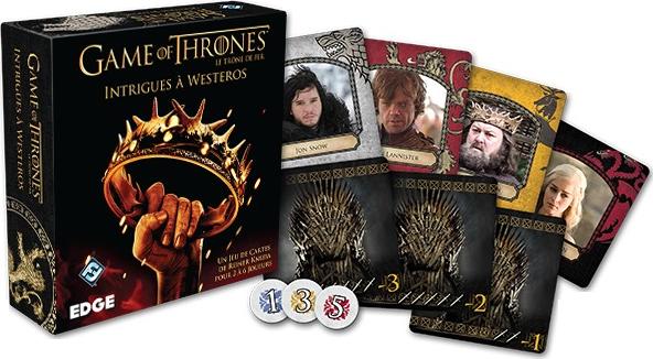 Game of Thrones - Intrigues à Westeros, apperçu du matériel