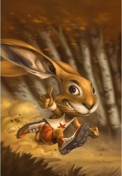 Le Lièvre et la Tortue, la carte lapin © Purple Brain Créations / Leyssenne