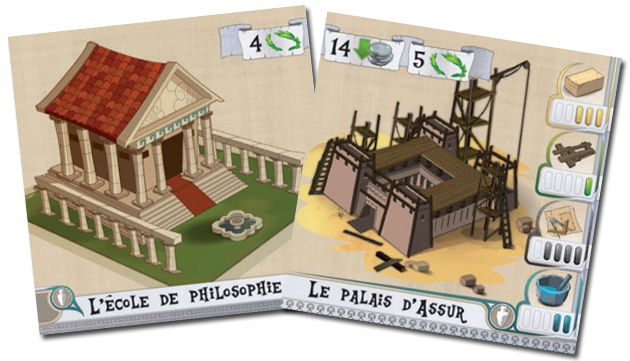 Les Bâtisseurs - Antiquité, exemple de carte Monument © Bombyx / Miramon