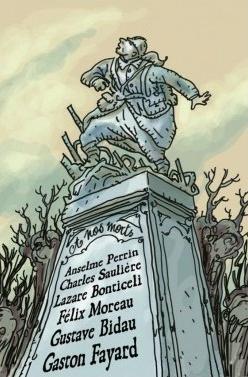 Les Poilus, le monument aux morts, synonyme de défaite © Sweet November / Tignous