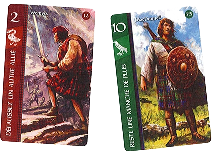 Lords of Scotlands, cartes du jeu © Filosofia