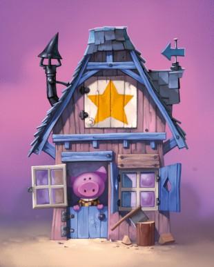 Mange-moi si tu peux!, Maison d'un petit Cochon © Purple Brain / Leyssenne