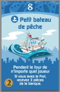 Miniville, Extension Marina, carte petit bateau de pêche