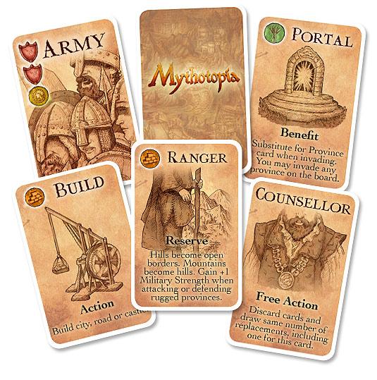 Mythotopia , cartes du jeu © Treefrog Games