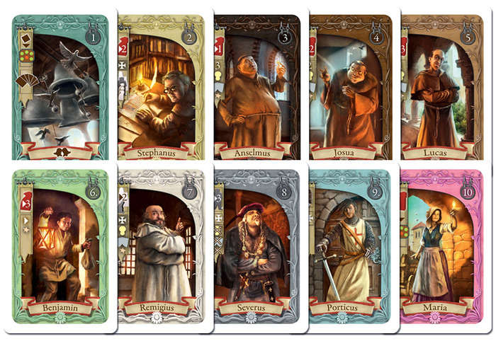 Templar, Le Trésor Secret, apperçu des cartes