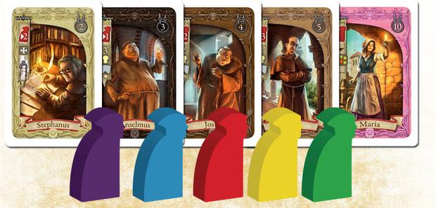 Templar, Le Trésor Secret, pions et cartes
