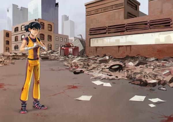 Zombie 15', illustration d'une fiche de peronnage © Iello