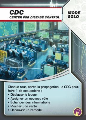Pandémie - In Vitro, carte CDD (mode solo)